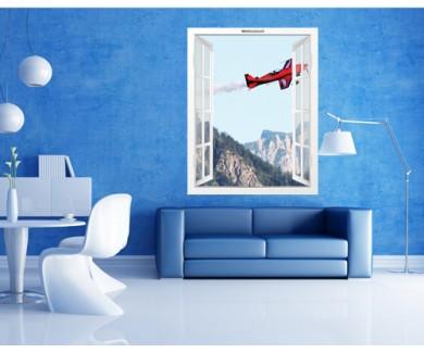 Наклейка на стену Полёт самолёта