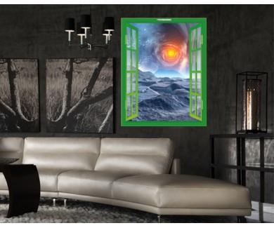 Наклейка на стену Чужая планета