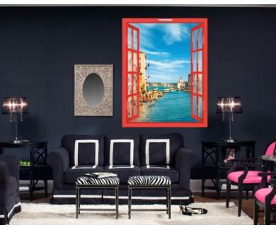 Наклейка на стену Великолепный вид на Гранд-Канал, Венеция