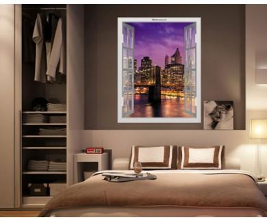 Наклейка на стену Вид на Нью Йорк