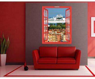 Наклейка на стену Круизный Корабль в Венеции, Италия