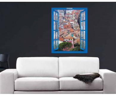 Наклейка на стену Лазурный Берег, Ницца. Вид на город