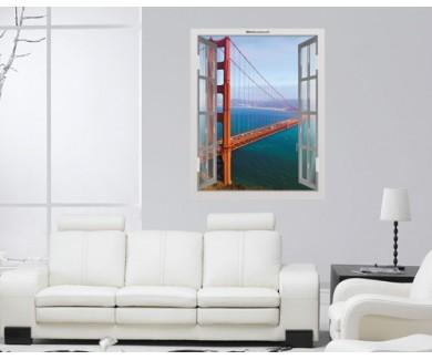 Наклейка на стену Мост Золотые Ворота, Сан-Франциско