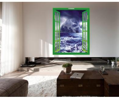 Наклейка на стену Буря в море