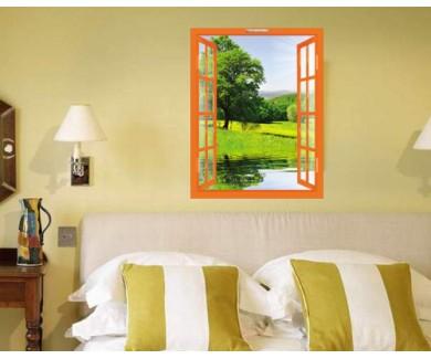 Наклейка на стену Весенний пейзаж в национальном парке Шумава