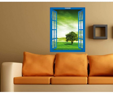 Наклейка на стену Зелёный пейзаж