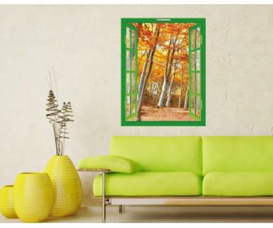 Наклейка на стену Золотая осень