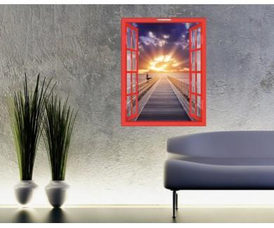 Наклейка на стену Красивый закат