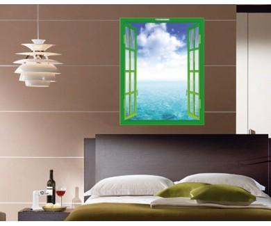Наклейка на стену Красивый морской пейзаж с голубым небом