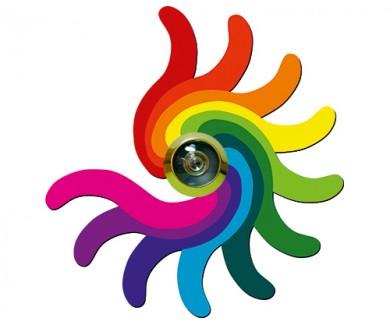 Наклейка на глазок Цветная каракатица