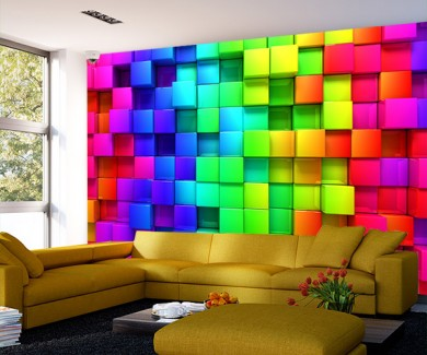 Фотообои Красочные коробки цвета радуги