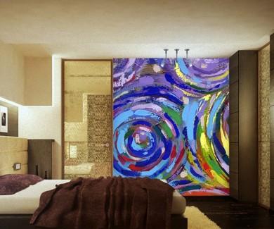 Фотообои Акриловая живопись абстрактной текстуры