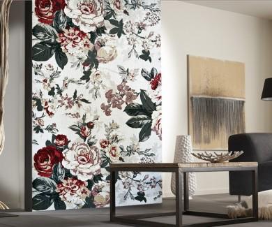 Фотообои Гобелен с красочным цветочным орнаментом