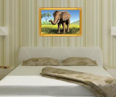 Наклейка на стену Африканский слон