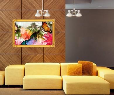 Наклейка на стену Живописная иллюстрация тропиков