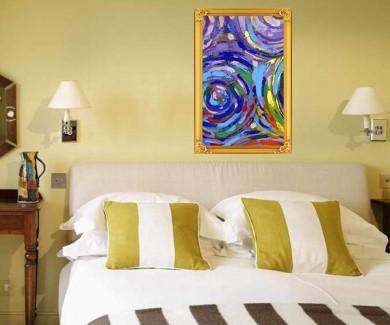 Наклейка на стену Акриловая живопись абстрактной текстуры