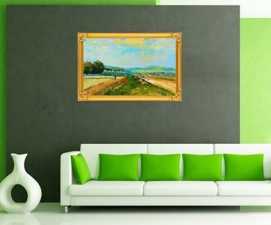 Наклейка на стену Картина Маслом, деревня