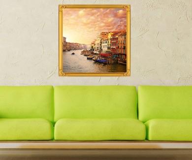 Наклейка на стену Красивый вид на  канал в Венеции