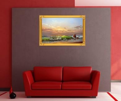 Наклейка на стену Морской пейзаж на закате