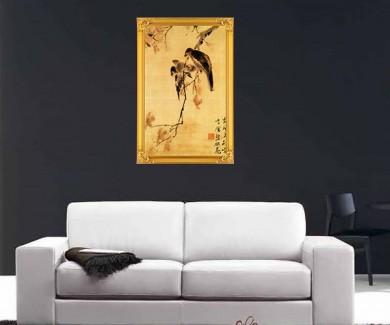 Наклейка на стену Птицы на ветке