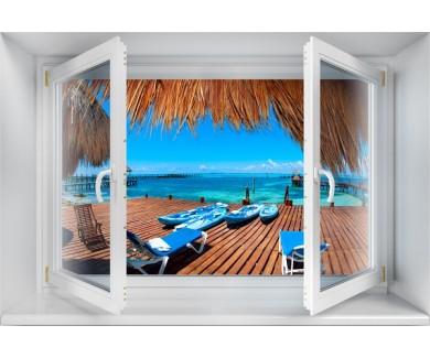 Наклейка на стену Вид на Карибское море