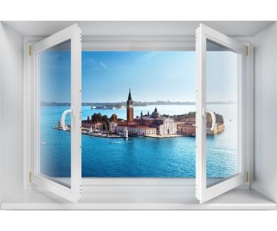 Наклейка на стену Вид на остров Сан-Джорджо, Венеция, Италия