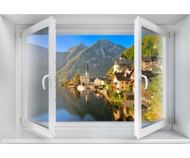 Наклейка на стену Озеро Гальштат, Австрия