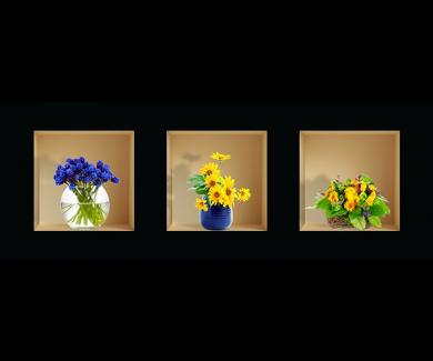 Наклейка на стену Цветы 1