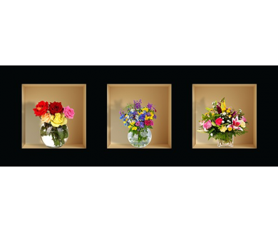 Наклейка на стену Цветы 2