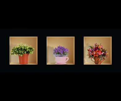 Наклейка на стену Цветы 4