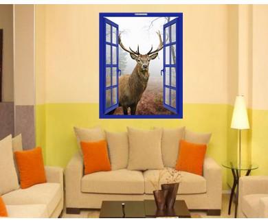 Наклейка на стену Прекрасный образ Королевского оленя