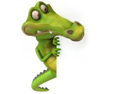 Наклейка на холодильник Крокодил