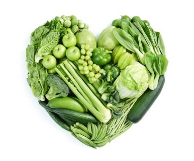 Наклейка на холодильник Зеленое сердце