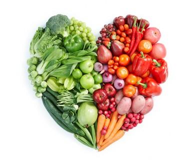 Наклейка на холодильник Зеленокрасное сердце