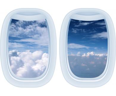 Наклейка на стену Вид на небо из самолета