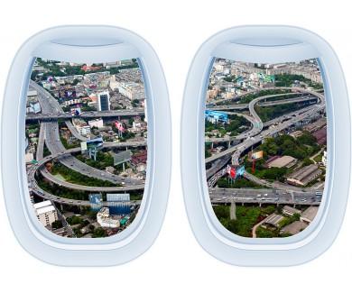 Наклейка на стену Вид с воздуха дорожную эстакаду в Бангкоке