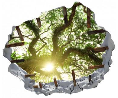 Наклейка на потолок Дерево в джунглях