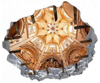 Наклейка на потолок Интерьер знаменитого собора Бургос, Испания