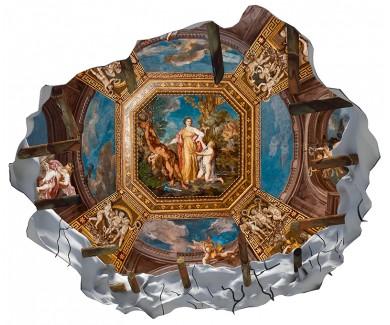 Наклейка на потолок Потолок музея в Ватикане