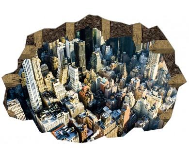 Наклейка на пол Вид на Манхэттен с Эмпайр-Стейт-Билдинг
