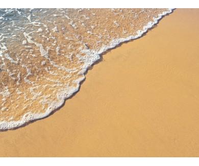 Наклейка на пол Желтый песок и вода