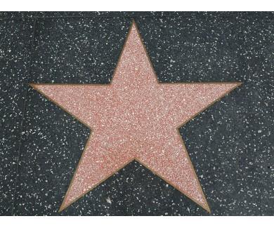 Наклейка на пол Звезда на Голивудской аллее славы
