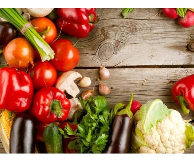 Наклейка на пол Овощи на столе