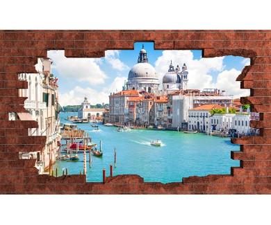 Наклейка на стену Венеция днём