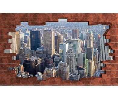 Наклейка на стену Крыши Нью Йорка